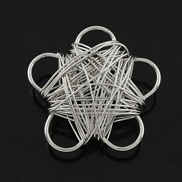 Platinum Flower Iron Beads