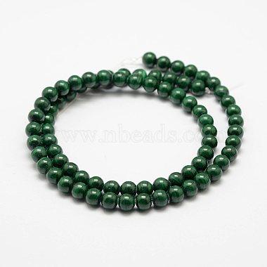 Natural Malachite Beads Strands(G-F461-05-6mm)-2