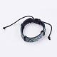 Adjustable Unisex Cowhide Cord Bracelets(BJEW-F300-06C)-1