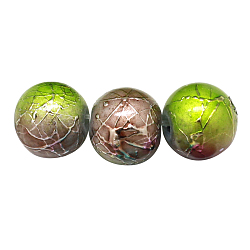 Two-Tone Color Baking Painted Drawbench Glass Bead Strands, Round, Camel, 8~8.5x7.5~8mm, Hole: 1.5mm; about 106pcs/strand, 31.4inches(X-DGLA-S104-8mm-SA32)