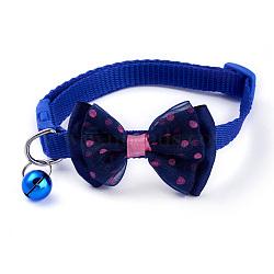 col réglable mega pet®, noeud papillon en nylon couleur bonbon pour animal de compagnie, avec la cloche, bleu, 19~32 cm(MP-MP0001-04D)