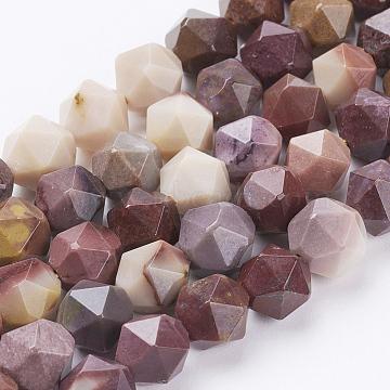 perles de Mookaite naturel brins, facettes, arrondir, 8x7 mm, trou: 1 mm; environ 49 perle / brin, 15.3 (39 cm)(G-J376-53A-8mm)