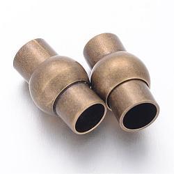 Fermoirs magnétiques en laiton, lanterne, couleur de bronze antique, 17x10mm, Trou: 6mm(X-KK-H303-1)
