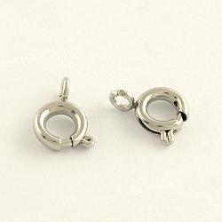 304 пружинные кольца из нержавеющей стали, нержавеющая сталь цвет, 9x7.2x1.3 mm, отверстия: 2 mm; Внутренний диаметр: 3.9 mm(STAS-R065-25)
