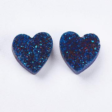 9mm Heart Druzy Agate Beads