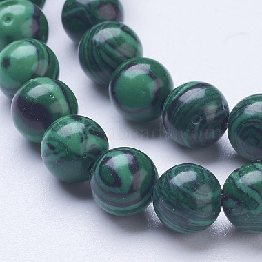 Synthetic Malachite Beads Strands(G-D855-02-8mm)-3