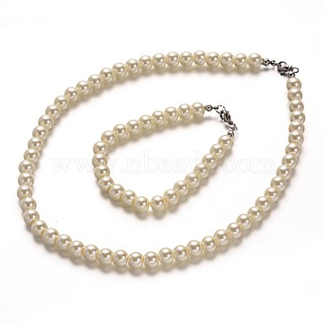 Beige Glass Bracelets & Necklaces