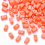 Tomato Rectangle Glass Beads(SEED-S031-M-406)