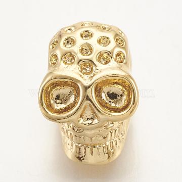 Golden Skull Brass Beads