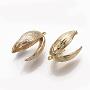 Real 18K Gold Plated Brass Peg Bails(KK-Q762-021G-NF)