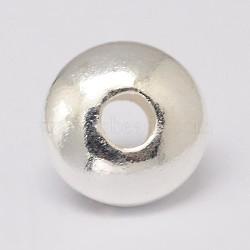 Séparateurs perles en 925 argent sterling, disque, argenterie, 3~3.5x1.5mm, Trou: 1mm(STER-K021-03S-3mm)