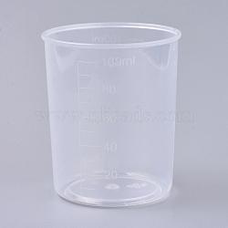 Tasse à mesurer en polypropylène (pp) de 100 ml, tasse graduée, effacer, 5.5x6.4 cm; capacité: 100 ml(TOOL-WH0021-50)