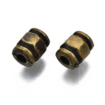 Antique Acrylic Beads, Column, Antique Bronze, 8x6mm, Hole: 2.5mm; about 2140pcs/500g(PACR-Q085-45AB)