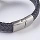 Men's Braided Leather Cord Bracelets(BJEW-P194-17B)-3