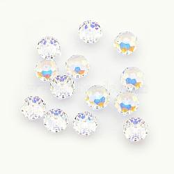 Perles de cristal autrichien, 5040 8 mm, facettes rondelle, cristal, couleur ab perles en vrac pour la fabrication de bijoux, cristal, taille: environ 8mm de diamètre, épaisseur de 6mm, Trou: 1mm(X-5040_8mm001AB)