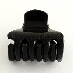 accessoires pour cheveux, pinces à cheveux en plastique, noir, 30x34 mm(PHAR-R162-01)