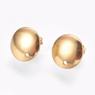 Golden Stainless Steel Stud Earrings