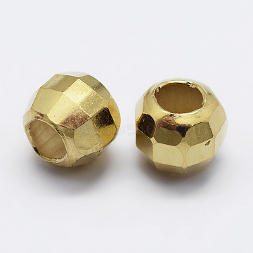 Golden Round Sterling Silver Beads