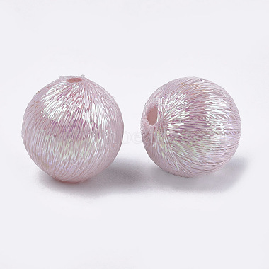 Polyester Thread Fabric Covered Beads(WOVE-T009-16mm-04)-2
