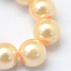 Baking Painted Pearlized Glass Pearl Round Bead Strands(X-HY-Q003-6mm-61)-3