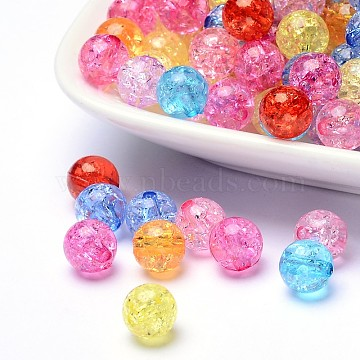 8mm Mixed Color Round Acrylic Beads