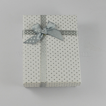 White Rectangle Cardboard Jewelry Set Box