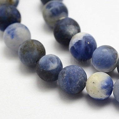 Natural Sodalite Beads Strands(G-J364-01-10mm)-3