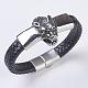 Men's Braided Leather Cord Bracelets(BJEW-P194-17B)-1