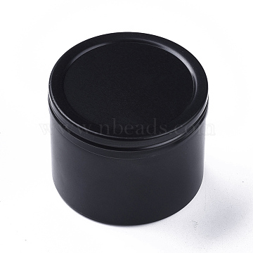 Round Aluminium Tin Cans, Aluminium Jar, Storage Containers for Cosmetic, Candles, Candies, with Screw Top Lid, Gunmetal, 5.1x4cm(CON-F006-04B)