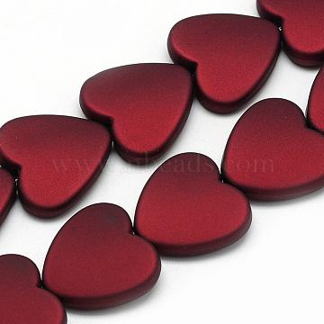 20mm FireBrick Heart Acrylic Beads