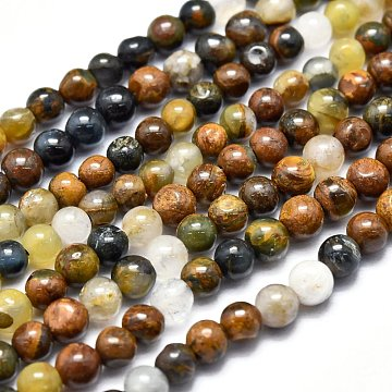 Natural Pietersite Beads Strands, Round, 3.5~4.5mm, Hole: 0.5mm; about 98pcs/Strand, 15.55 inches(39.5cm)(G-F686-01)
