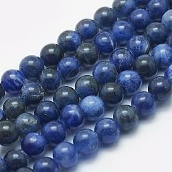sodalites naturelles brins de perles, arrondir, 8~8.5 mm, trou: 2 mm; environ 48 perle / brin, 14.5(G-K287-10-8mm)