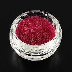 Décoration d'art d'ongle de mini perles de verre transparent 3D de bricolage, minuscules perles de clou de caviar, firebrick, 0.6~0.8mm(X-MRMJ-R038-C09)