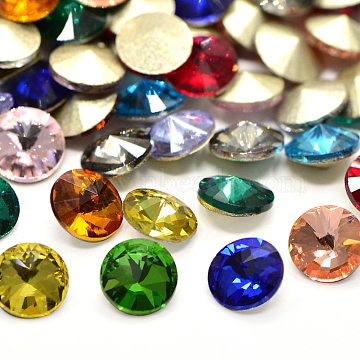 14mm Cone Glass Rhinestone Cabochons