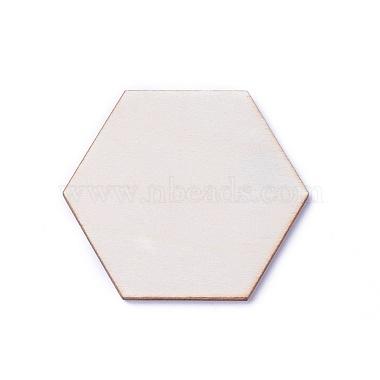 10mm BurlyWood Hexagon Wood Cabochons