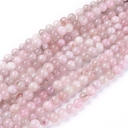 Природного розового кварца нитей бисера, круглые, 8 мм, Отверстие : 0.8~1 мм; около 46 шт / нитка, 14.96 дюйм (38 см)
