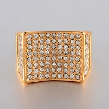 Brass Micro Pave Cubic Zirconia Criss Cross rings, Double rings, X Rings, Clear, Golden, US Size 9(18.9mm)(RJEW-BB39449-G-9)