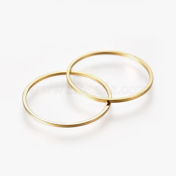 Brass Linking Rings, Golden, 20x1mm(X-EC18720MM-G)