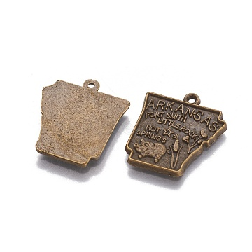 Antique Bronze Trapezoid Alloy Pendants