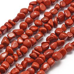 """Chapelets de perles en jaspe rouge naturel, puce, 3~5x3~5x3~8mm, trou: 1mm; environ 85~90 pcs/chapelet, 15.7"""" (40 cm)(G-F465-36)"""