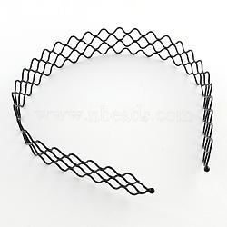 Accessoires pour bande de cheveux en fer, noir, 130mm(OHAR-Q043-04)