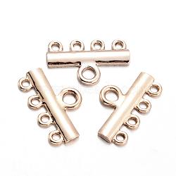 Composants de liens de lustre en alliage, cintre, or, 14x22x2mm, trou: 2 et 3 mm(PALLOY-O065-32G-AAA)