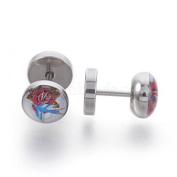 Colorful Stainless Steel Stud Earrings