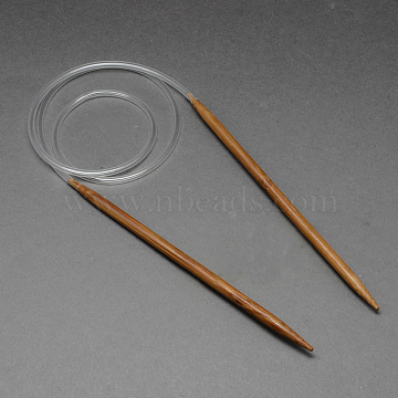 Rubber Wire Bamboo Circular Knitting Needles, More Size Available, Saddle Brown, 780~800x3.75mm(TOOL-R056-3.75mm-02)