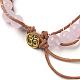 Natural Rose Quartz Cord Beaded Bracelets(BJEW-E351-02D)-3
