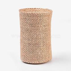 Linen Rolls, Jute Ribbons For Craft Making, BurlyWood, 10cm(OCOR-WH0027-E-01)