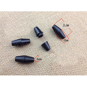 Pom Screw Clasps, Breakaway Clasps, 27.5x12mm, Hole: 4mm(FIND-F006-01)