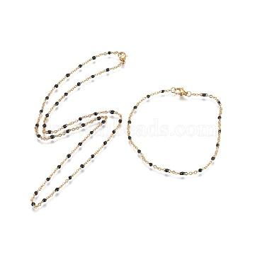 Black Stainless Steel Bracelets & Necklaces