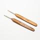 Bamboo Handle Iron Crochet Hook Needles(TOOL-R034-3.0mm)-1