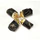 Golden Tone Brass Tourmaline Pendants(G-J264-04)-2